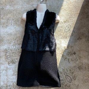 Style & Co long half fur vest